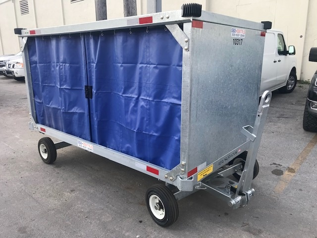Baggage Carts Closed Iscar BCL-8 Galvanized
