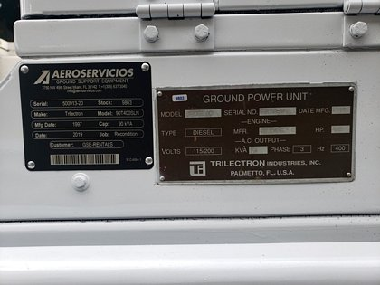 Ground Power Unit Trilectron 90T400SLN - 90 kVA